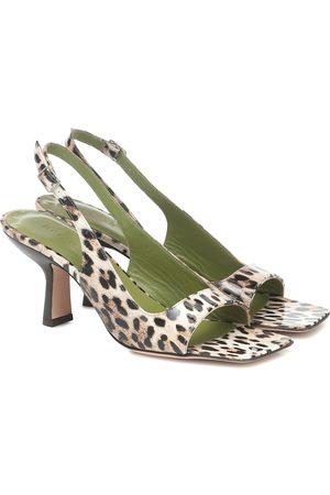 By Far Women Sandals - Lopez leopard-print leather sandals