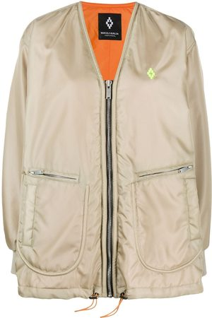 MARCELO BURLON Women Bomber Jackets - Atmosphera print bomber jacket - Neutrals