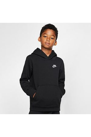 Nike Boys' Sportswear Small Logo Club Hoodie in Size Large Cotton/Polyester/Fleece