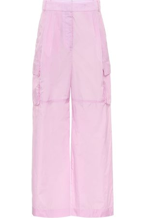 tibi High-rise wide cargo pants