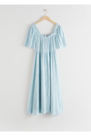 & OTHER STORIES Smocked Crepe Maxi Dress