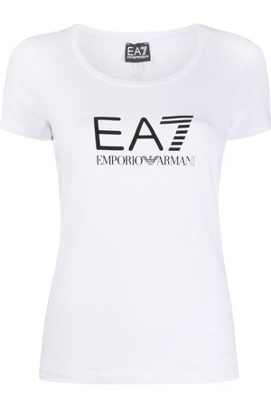 EA7 Logo-print scoop neck T-shirt