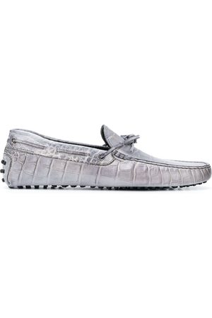 Tod's Men Loafers - Crocodile effect loafers - Grey