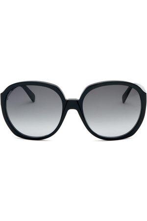 Celine Eyewear Oversized Round Acetate Sunglasses - Womens