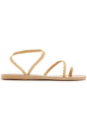 Ancient Greek Sandals Eleftheria Braided Leather Sandals - Womens - Tan