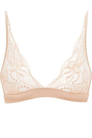 Fleur of England Signature Boudoir Chantilly-lace Triangle Bra - Womens - Light