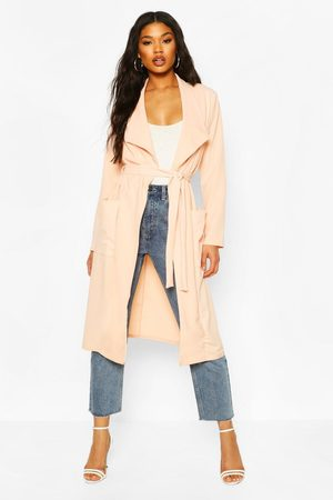 Boohoo Womens Utility Pocket Belted Duster - - 4
