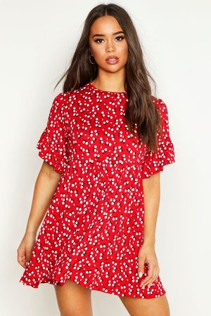 Boohoo Womens Ditsy Floral Smock Dress - - 8