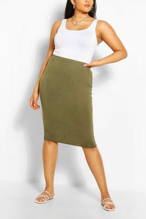 Boohoo Womens Plus Midi Tube Skirt - - 22