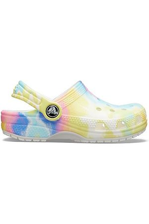 Crocs Big Kids' Classic Tie-Dye Graphic Clog Shoes in Size 4.0