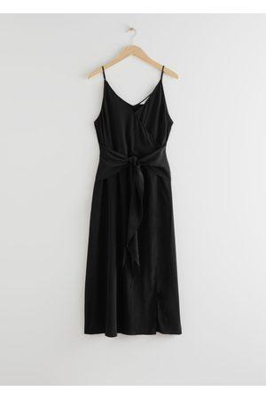 & OTHER STORIES Women Midi Dresses - V-Neck Waist Tie Midi Dress