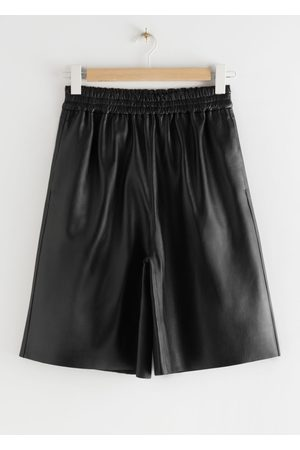 & OTHER STORIES Pull-On Leather Shorts