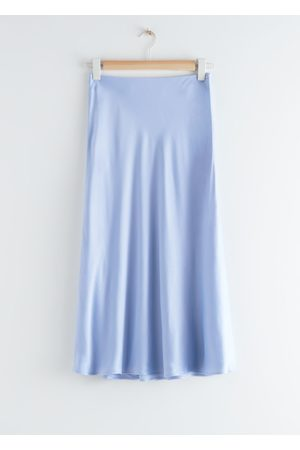 & OTHER STORIES Satin A-Line Midi Skirt