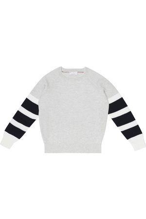 Brunello Cucinelli Exclusive to Mytheresa – Colorblocked cotton sweater