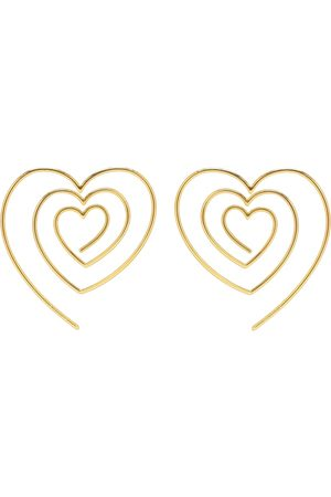 Y / PROJECT Heart-shaped spiral earrings