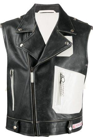 RAF SIMONS Men Leather Jackets - Biker gilet