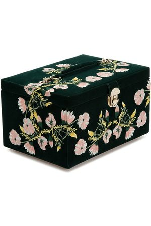 Wolf Embroidered jewellery box
