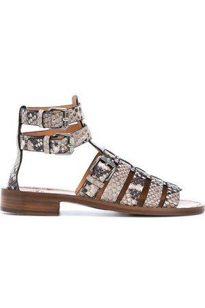 Church's Women Sandals - Deb python-print gladiator sandals - Neutrals
