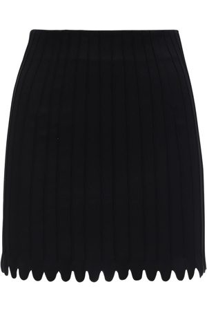 COPERNI Pintuck Stretch Cotton Mini Skirt