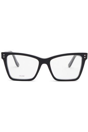 Céline Rectangular Cat-eye Acetate Glasses - Womens