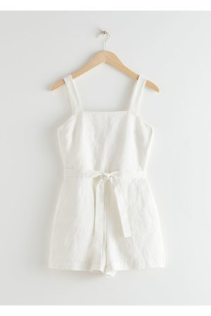 & OTHER STORIES Square Neck Linen Romper