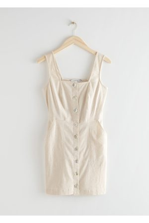 & OTHER STORIES Sleeveless Fitted Button-Down Mini Dress
