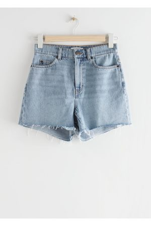 & OTHER STORIES Frayed Hem Fitted Denim Shorts