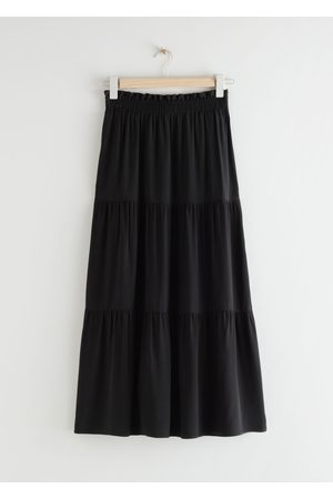 & OTHER STORIES Smocked Waist Tiered Midi Skirt