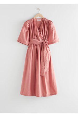& OTHER STORIES Voluminous Wrap Midi Dress