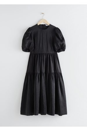 & OTHER STORIES Voluminous Puff Sleeve Midi Dress