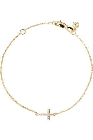 Sydney Evan Women Bracelets - 14kt diamond cross bracelet