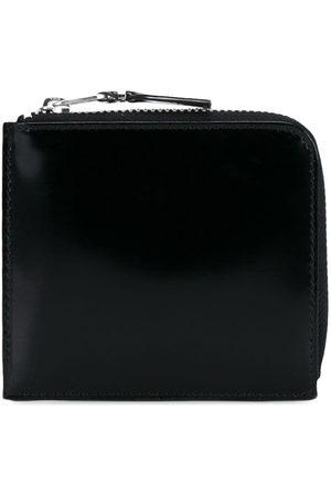 Comme des Garçons Glossy half-zip wallet
