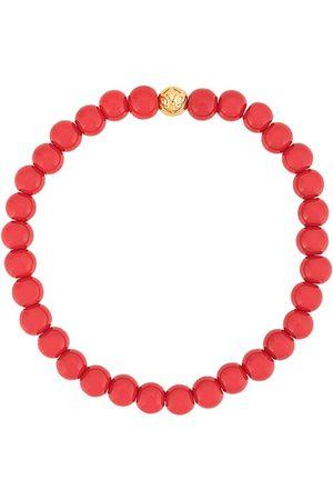 Nialaya Men Bracelets - Beaded two tone bracelet