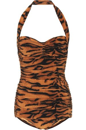 Norma Kamali Exclusive to Mytheresa – Bill tiger-print swimsuit