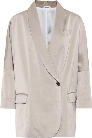 Brunello Cucinelli Exclusive to Mytheresa – Satin blazer