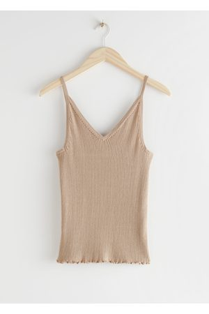 & OTHER STORIES Ribbed V-Neck Top