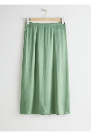 & OTHER STORIES Satin Cupro Midi Skirt