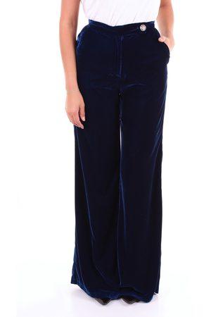 ACTUALEE Women Wide Leg Pants - Trouser Women Electric 100% Polyester