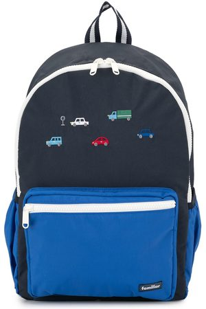 Familiar Embroidered cars backpack