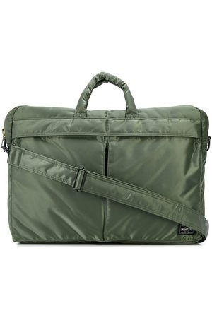 PORTER-YOSHIDA & CO Multi-pocket silk laptop bag