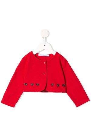 Familiar Jackets - Strawberry embroidered buttoned jacket