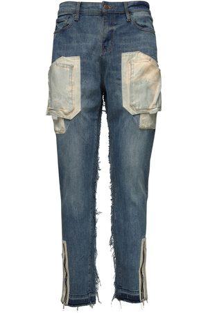 VAL. KRISTOPHER 15cm Cargo Cotton Denim Jeans