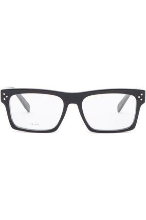 Celine Eyewear Flat-top Rectangular Acetate Glasses - Womens