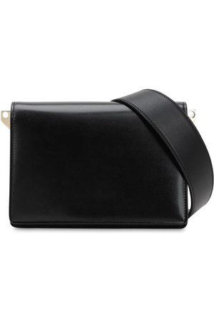 VALEXTRA Swing Suede & Leather Shoulder Bag
