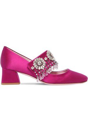 Roger Vivier Women Heels - 45mm Grande Soirée Embellished Pumps