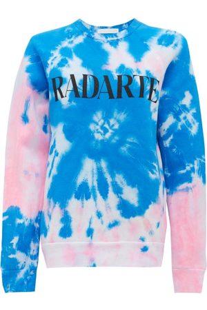 RODARTE Women Sweatshirts - Logo-print Tie-dye Cotton-blend Sweatshirt - Womens - Multi
