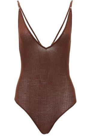 DODO BAR OR Liam Rib-knitted Bodysuit - Womens - Dark