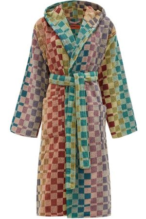 Missoni Yassine Hooded Checked Cotton-terry Robe - Womens - Multi