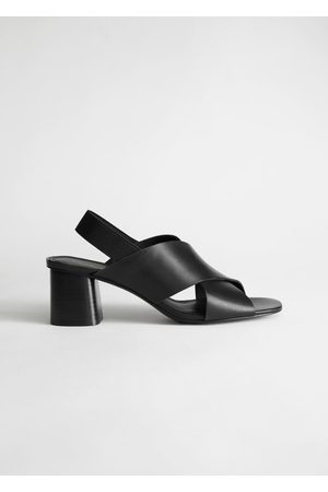 & OTHER STORIES Criss Cross Heeled Leather Sandals