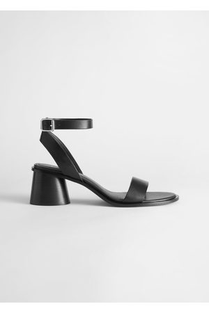 & OTHER STORIES Strappy Block Heel Leather Sandal